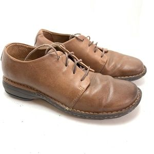 ROCKPORT Brown Leather Oxford Casual Shoes sz 6 M
